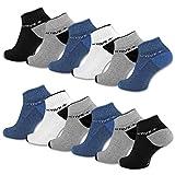 sockenkauf24 6 oder 12 Paar SPORT Sneaker Socken mit verstärkter Frotteesohle Herrensocken Sportsocken - 16210 (39-42, 12 Paar | Farbmix)