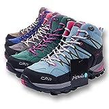 CMP Wanderschuhe Damen Outdoor Schuhe Trekkingsschuhe wasserdicht leicht und bequem mit Dicker Sohle in vielen Farben Ragel, Größe:38, Farbe:Tortora-Ice-Black-High