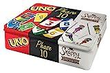 Mattel Spiele FFK01 - Kartenspiel-Klassiker in Metalldose: Uno Phase 10 und Snappy Dressers, Kartenspiele