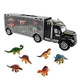 Spielzeugtransporter, Dinosaurier-Transport-Träger-LKW-Spielzeug mit 6 Mini-Plastik-Dinosaurier-pädagogische für Kinder