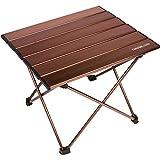 Trekology tragbarer Camping-Tisch mit Aluminium-Tischplatte, zusammenklappbar, mit Tasche, für Picknick, Camping, Strand, nützlich zum Essen, Schneiden, Kochen, leicht zu reinigen