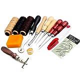 14Stück Set von Leder Näh Garn, Nadeln Werkzeug für Nähmaschinen von Handwerk DIY