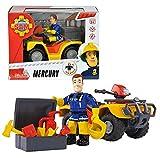 Feuerwehrmann Sam - Fahrzeug Geländewagen Quad Mercury & Spielfigur Sam