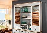 SAM Küchen Buffet Side Board Paris 409 aus weiß lackiertem Paulowniaholz in modernem Landhausstil