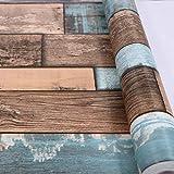 Dekofolie Holz Folie Selbstklebend Vinyl Aufkleber für Möbel, Wände, Türen, Holzmaserungseffekte, 0,45m x 2m,Möbelsticker