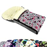 BAMBINIWELT universaler Winterfußsack (90cm oder 108cm), auch geeignet für Babyschale, Kinderwagen, Buggy, aus Wolle im Eulendesign (108cm, $12)