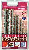 Bohrer / Hartmetall Steinbohrer Set Long Life TSS 8, 8-teilig | universeller Mauerbohrer in gefräster Ausführung, stabiler Grundkörper aus Werkzeugstahl, sehr robust | Ø 3 / 4 / 5 / 6 / 7 / 8 / 9 / 10 mm