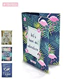 travuela Premium Reisepasshülle Flamingo - schützende Reisedokumententasche/Ausweishülle für den Reisepass aus Kunst Leder - Passport Cover