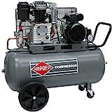 Airpress Druckluft-Kompressor 3 PS 2,2 kW 10 bar 100 Liter Kessel mobiler Kolben-Kompressor 230 Volt HL425-100