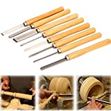tcatec 8 Stücke Stechbeitel Drechselmesser Schüsseldrehröhre Set Holzdrehung Werkzeugen für Das Drechseln Stabil