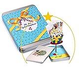 HAPPY BIRTHDAY, Geldgeschenke Verpackung mit Effekt; der Cupcake richtet sich beim Öffnen gemeinsam mit deinem Geschenk auf; Geschenkbox für Geldgeschenke Gutscheine kleine Geschenke; für Mann und Frau