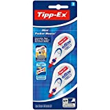 Tipp-Ex Mini Pocket Mouse Korrekturroller / Korrekturband 6 m x 5 mm / Blister à 2 Stück, weiß