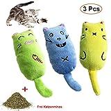 Katzenminze Spielzeug, 3 Stück Haustier Katzenminze Zähne Kauen Spielzeug, Interaktive Katze Plüschtiere Spielzeug zum Kauen,Reduzieren Sie die Einsamkeit von Haustieren, mit Frei Katzenminze Mäuse