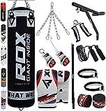 RDX Boxsack Set Gefüllt Kickboxen MMA Kampfsport Muay Thai Boxen mit wandhalterung Stahlkette Training Handschuhe 17 PC Schwer 4FT 5FT Punching Bag