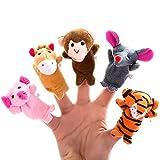 Better Line 20-teiliger Fingerpuppen Satz zum Geschichten erzählen - Stoffpuppen mit 14 Tieren plus 6 Personen, Mitglieder einer Familie