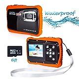 PROACC wasserdichte Kamera für Kinder (bis 3 Meter), Unterwasser Kinderkamera Camcorder HD720p 12MP Digital Sportkamera mit 8 GB Speicherkarte, 2.0 '' LCD-Bildschirm, 8X Digital Zoom, Flash Mic (Rot)