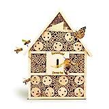 bambuswald Insektenhotel 28,5 x 9 x 39 cm | Bienenhotel/Unterschlupf für Insekten - Insektenhaus Naturmaterialien. Gelebter Natur- & Artenschutzfür Zuhause -NistkastenHausNützlingshotel Schutz