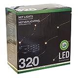 Lichterkette Lichternetz mit 320 LEDs warmweiß / 300x150cm / Innen & Außen