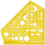 Standardgraph 8191 Schablone Stano-Winkel, 155 x 155 x 1,3 mm