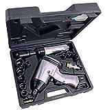 Pro-Lift-Montagetechnik Set: 1/2' Schlagschrauber 310Nm + Druckluftratsche 68Nm, Set, 10 Nüsse, blauer Koffer, J, 00357