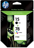 HP 15 2er-Pack schwarz /78 cyan/magenta/gelb Original Tintenpatrone