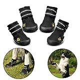 Hundeschuhe Pfotenschutz von Royalcare, wasserdicht mit anti-rutsch Sole passend für mittlere und große Hunde, schwarz(7#)