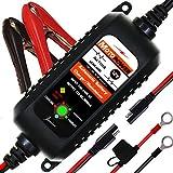 MOTOPOWER MP00205A 12V 800mA Automatisches Ladegerät/Maintainer für Autos, Motorräder, ATVs, Wohnmobile, Powersports, Boot und mehr. Smart, kompakt und umweltfreundlich