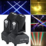 2x50W LED Mini Lichteffekt Bühnenlicht Moving Head Licht DMX512 Sound RGBW