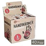 Warmpack Handwärmer | angenehme Wärmepads | kuschlig weiches Wärmekissen | 8 Stunden wohltuende Wärme von 57°C | 40er Pack