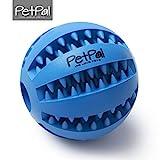 Hundeball mit Zahnpflege-Funktion Noppen von PetPäl | Hundespielzeug aus Naturkautschuk | RobusterHunde Ball Ø 7cm | Hundespielball für Große & Kleine Hunde | Kauspielzeug aus Naturgummi für Leckerli