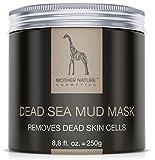 Totes Meer Schlamm Gesichtsmaske by Mother Nature - Pflege für trockene und unreine Haut - Reinigung bei Pickel – Mitesser – Akne - Anti-Aging Maske, 250 g