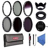 52mm Filter Set, Beschoi 6-Stück Objektiv Filterset inkl CPL Polarisationsfilter, UV Filter, Grau Verlaufsfilter, ND Graufilter Set (ND2+ND4+ND8) und Kamera Zubehör