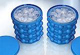 Ice Genie Blau Eiseimer Hält bis zu 120er Eiswürfel Eiswürfelbehälter aus doppelwandigem Kunststoff Eisbehälter