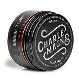 Charlemagne Premium Matte Pomade - Starker Halt - Matt Look - Mattes Haarstyling Wachs für Männer - 100ML - Fettet nicht - hinterlässt keine Flocken - Hergestellt in UK - Barbier Qualität