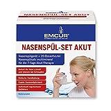 Emcur  Emsan Nasenspülset Akut 20 Dosierbeutel Nasenspüler Nasendusche  Nasenspülsalz