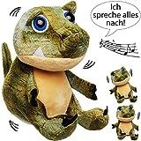 NACH sprechender - Dinosaurier / Dino -  Ich spreche Alles nach & bewege Mich dazu  - aus Stoff / Plüsch - Plüschtier - mit Sound & Bewegung - spricht & pla..
