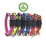 Bemix Pets Reflektierendes Katzenhalsband mit Glocke, 6er Set, Robust, Nylon, Verschiedene Farben, Coole Halsbänder für Hauskatzen, kleine Hunde