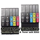 10 XXL Gel Drucker-Patronen Set für Ricoh GC-41 Black, Cyan, Yellow & Magenta (schwarz, rot, blau, gelb) kompatibel mit Aficio SG-2100N SG-3100 Series SG-3100SNW SG-3110DN SG-3110DNW SG-3110N SG-3110SFNW SG-3120BSF SG-3120BSFN SG-3120BSFNW SG-7100DN SG-K3100DN Tintenpatronen
