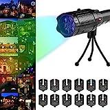 Weihnachtsprojektor-Lichter, BOFEISI LED-Taschenlampe Mit Kartenprojektionslampe Für Den Außenbereich Mit 12 Auswechselbaren Musterfolien