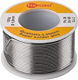 Tecline Lötzinn, Durchmesser 1,0 mm, 100 g Erstklassiges Markenlötzinn mit hoher elektrischer Leitfähigkeit (94907)