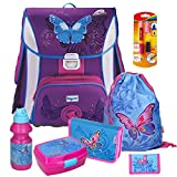 Butterfly Schmetterling Leicht-Schulranzen Set Baggymax SIMY Hama 7tlg. mit SCHREIBLERNFÜLLER gratis