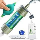 RUNACC Mini Wasser Filter mit Ballpumpe Schnelles Trinken und Rückspülen Design, 2000L