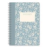 LifeDesign Notizbuch Notizheft Spiralbuch 'Trentino' DIN A5 120 Seiten creme liniert Softcover