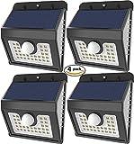GXZOCK 30 Führte Solarleuchten, Super Helle LED-Sicherheitsbeleuchtung Im Freien Bewegungssensor Solarscheinwerfer-Flutbeleuchtung Für Garten, Terrasse, Fechten Und Weg - 4 Packung