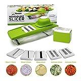 5-in-1 Kompakter Mandoline Gemüsehobel von Twinzee - Ideal zum Hobeln von Obst und Gemüse – Gemüse-Schneider - Scheiben, Reiben, Einfach