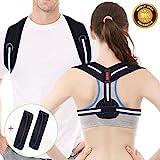 Acdyion Haltungskorrektur Geradehalter Rücken Gurt Sport für Männer und Frauen, verstellbar & atmungsaktiv, Reduzieren Sie Schmerzen in Schultern, Rücken und Nacken (Schwarz, L/XL: 39'-47')