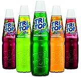 Tri Top Sirup Sortiment - Unsere Besten - 5 x 600ml - Kirsche - Zitrone-Limette - Waldmeister - Orange-Mandarine - Himbeere