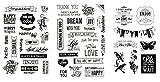 be fancy! Silikonstempel Set - Clear Stamps - Stempel - 50 Motive - transparent