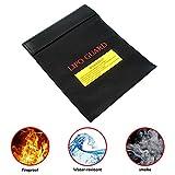 Pawaca Feuerfeste Dokumententasche, Feuerfeste Wasserresistente Tasche für Bargeld, Pässe, Karten, Wertsachen, Schmuck und Batterien Schutz (18 * 23cm)
