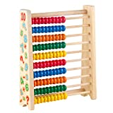Symiu Abakus Rechenschieber Mathematik HolzSpielzeug mit 100 Holzperlen, Kinder Holz Zählrahmen Rechenmaschine Lernspielzeug Abacus für Junge Mädchen ab 3 4 5 Jahren,(MEHRWEG)